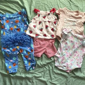 Baby Girl 0-3 months / 3 months Summer Clothes Set